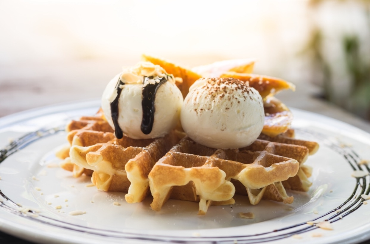 Mouth-watering belgian waffles